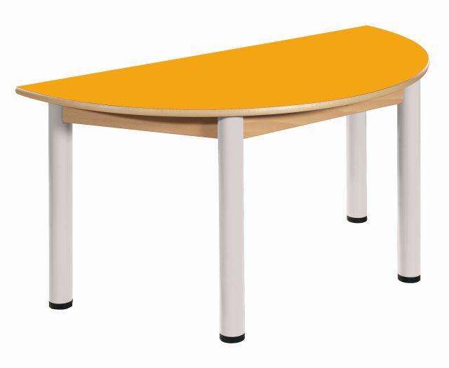 Stôl půlkulatý 120 x 60 cm / výška 40 - 58 cm