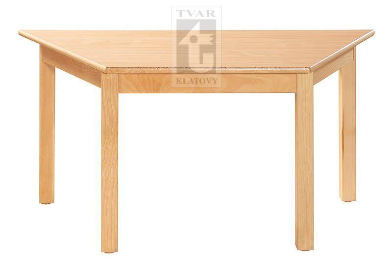 Stůl trapézový 120 x 60 cm, voliteľná farba dekoru dosky, TVAR v.d. Klatovy