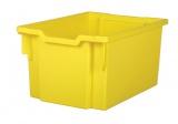 Plastová zásuvka F25 EXTRA DEEP - žlutá