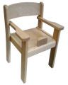 Stolička s podrúčkou a abdukčním klínom TIM II - prírodná