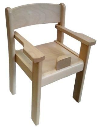 Stolička s podrúčkami a abdukčním klínom TIM II - prírodná