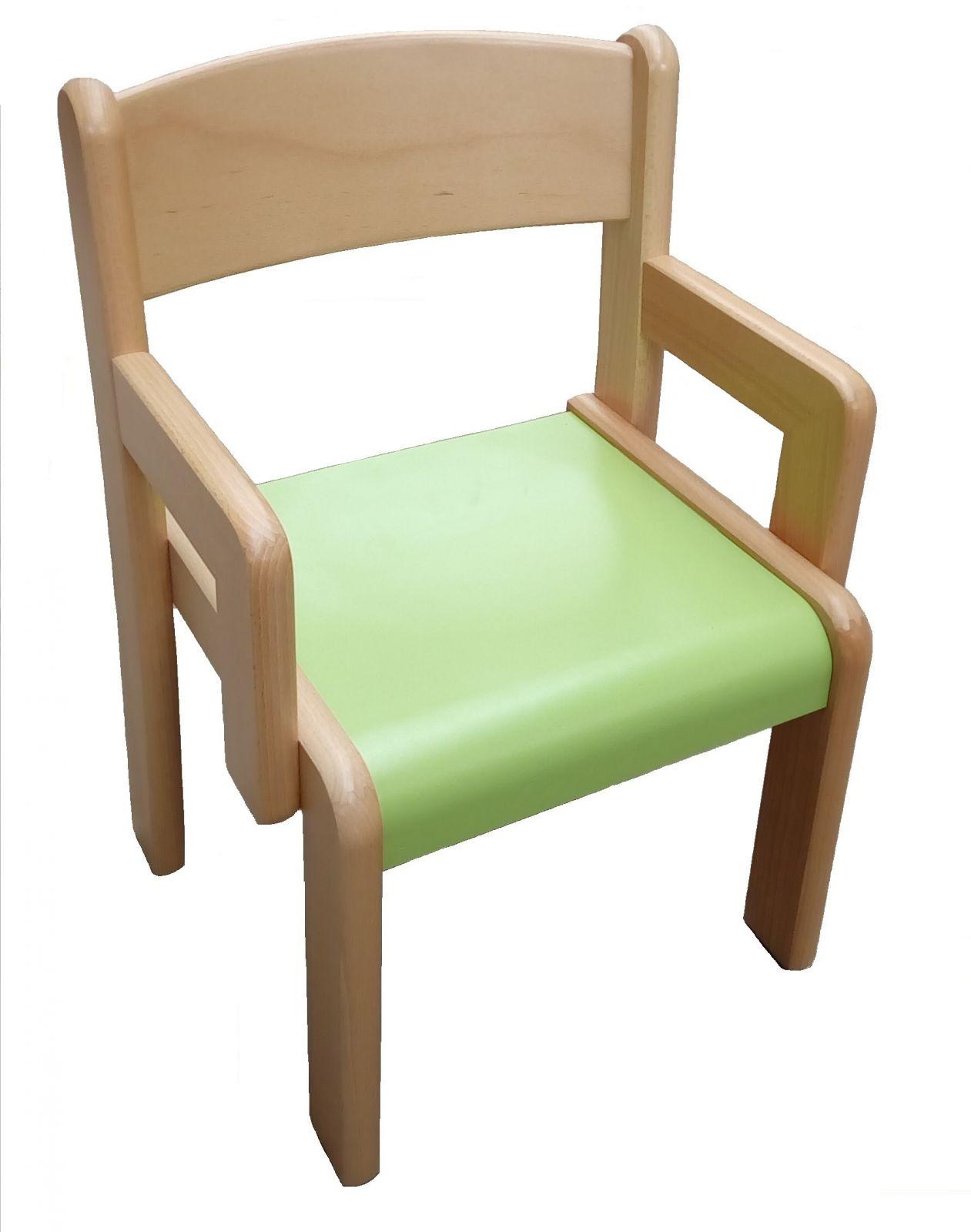 Stolička s podrúčkami VIGO - farebný umakartový sedák