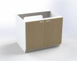 Skrinka pre prebaľovací pult s dvierkami, pre inštaláciu vaničky, š.83 cm