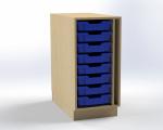 Skrinka pre prebaľovací pult s 8 plastovými zásuvkami (pravá), š.41,5 cm