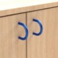 standard - modrá  - Skrinka jednodveřová s 5 vloženými policami
