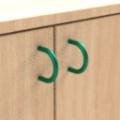 standard - zelená  - Skrinka jednodveřová s 5 vloženými policami